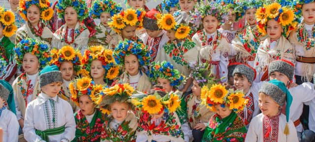 Открытие фестиваля писанок на Софиевской площади